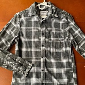 Target. Men's.Grey&white plaid flannel casual new